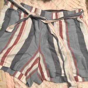 Loft paper-bag shorts